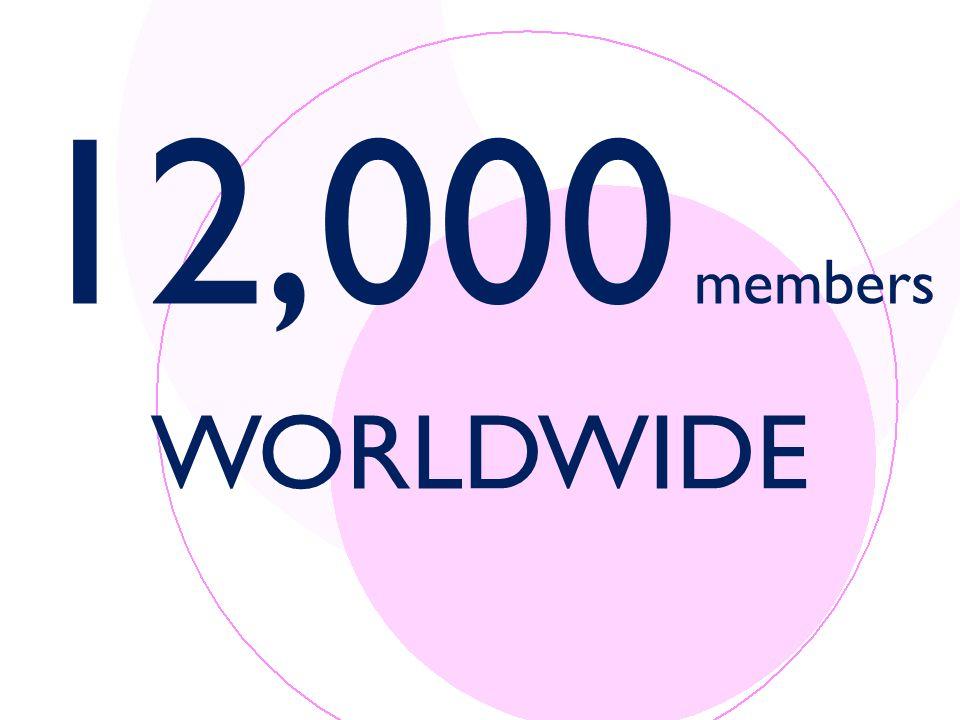 12,000 members WORLDWIDE