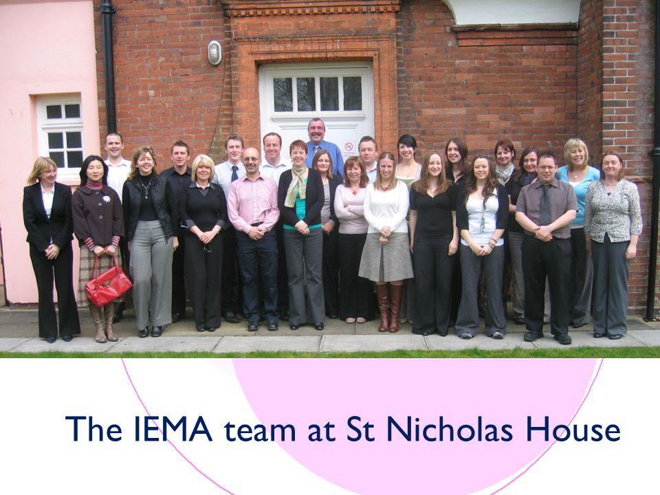 The IEMA team at St Nicholas House