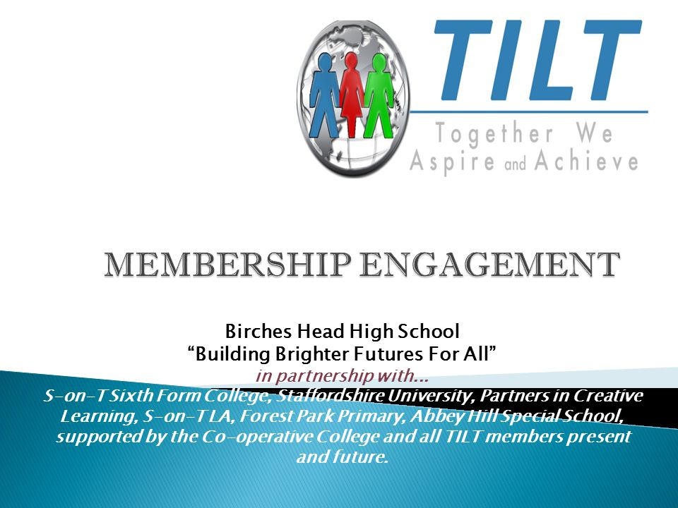 Birches Head High School Building Brighter Futures For All in partnership with...