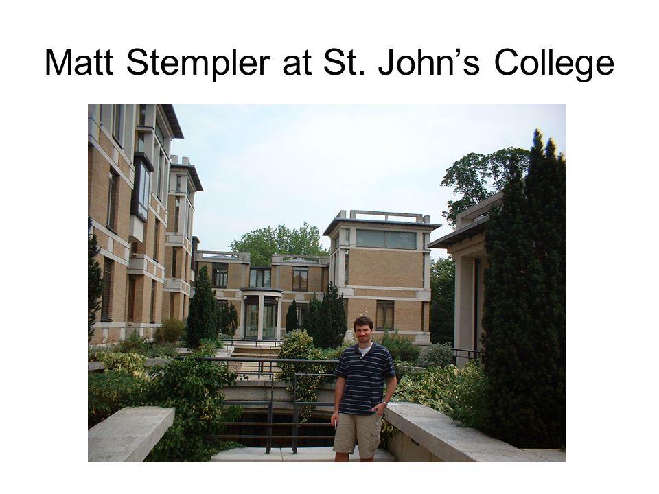 Matt Stempler at St. John's College