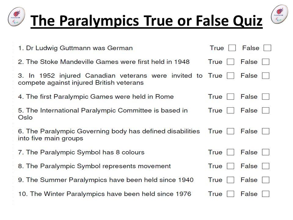 The Paralympics True or False Quiz