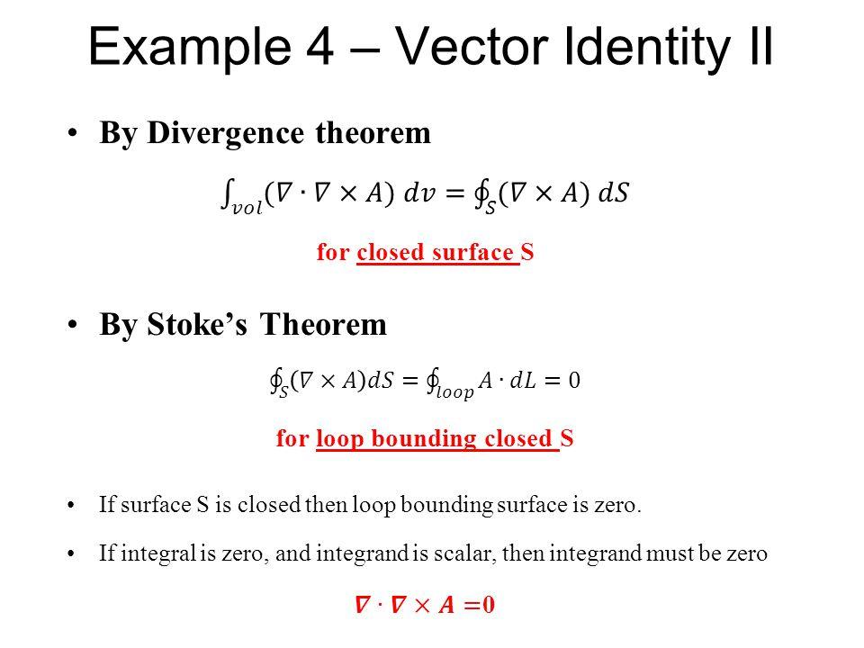 Example 4 – Vector Identity II