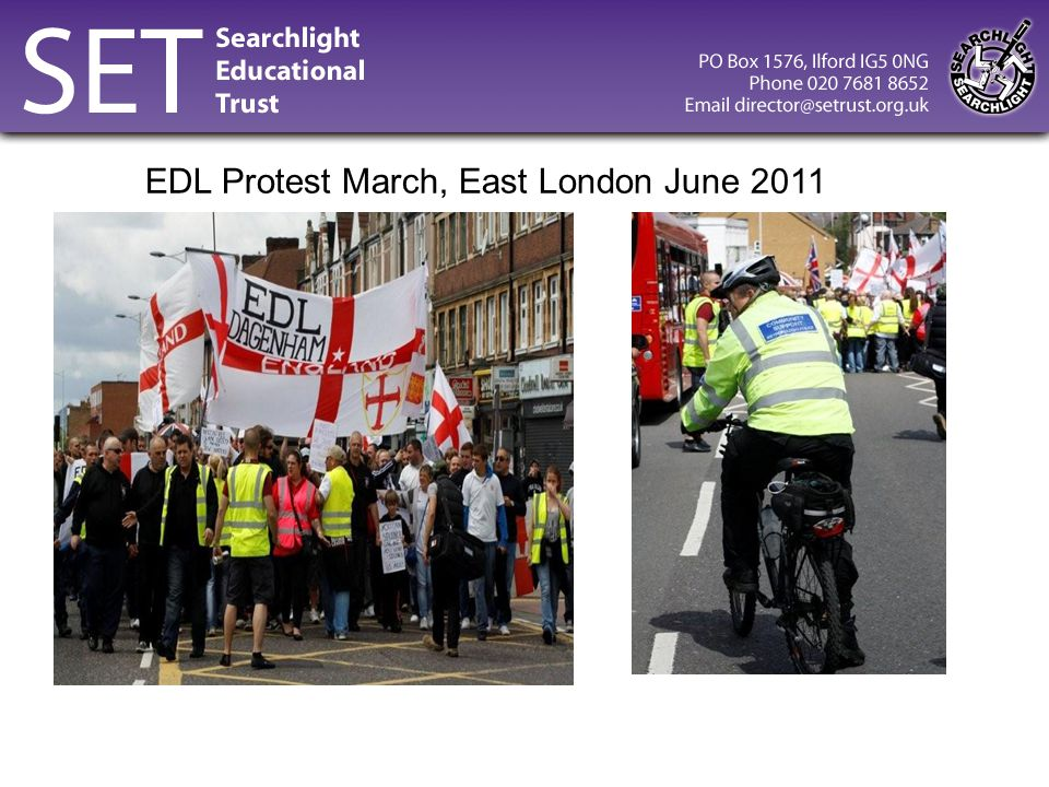 EDL Protest March, East London June 2011