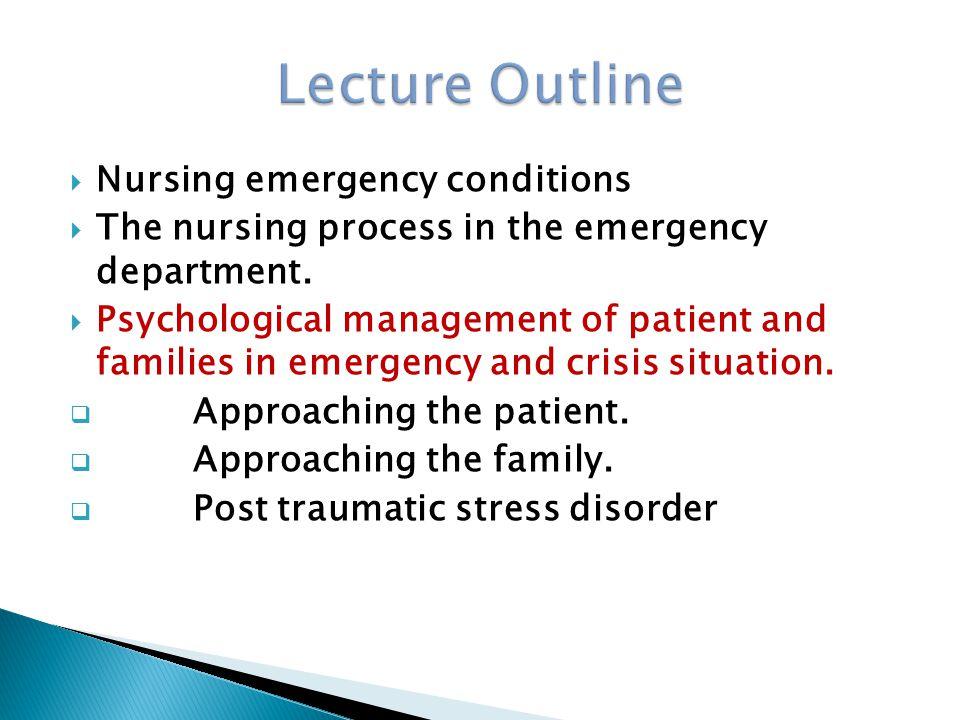  Priorities and principles of emergency management  Priorities of emergency management  Principle of emergency management  Emergency resuscitation Measures  Establish an airway  Control hemorrhage  Emergency management