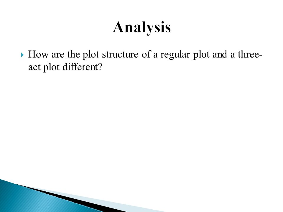  How are the plot structure of a regular plot and a three- act plot different