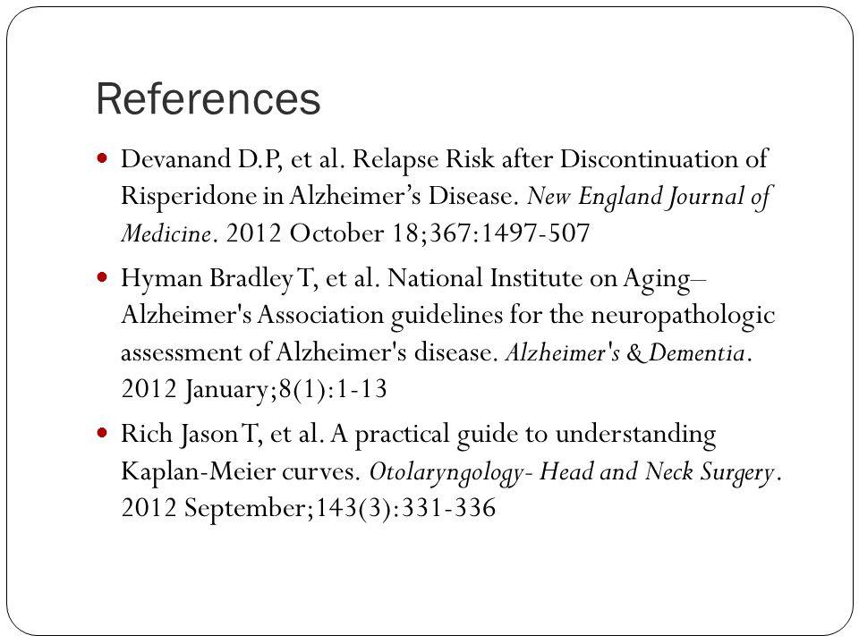 References Devanand D.P, et al.