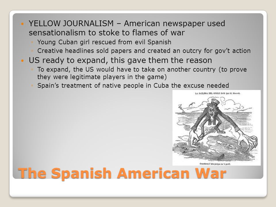 Setting the Stage for War Displays of US Power – ◦Chile – mobs against American sailors attacked, killed - US gov't reacted strongly, demanded payment to families ◦Brazil – when rebellion possible, US sent in troops to protect US interests.
