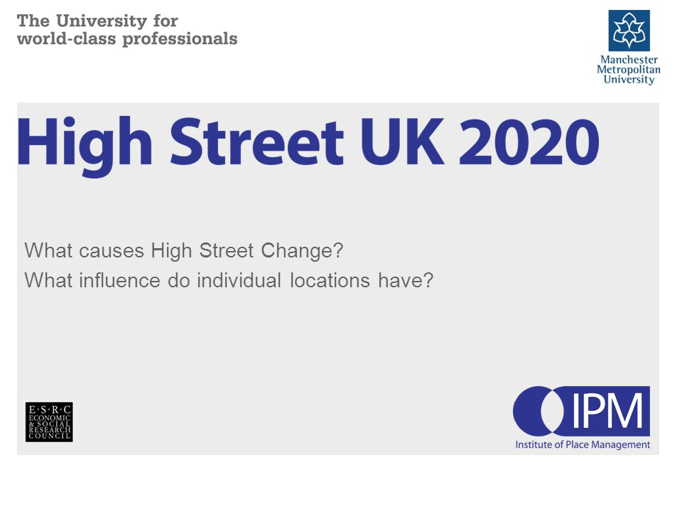 What causes High Street Change What influence do individual locations have