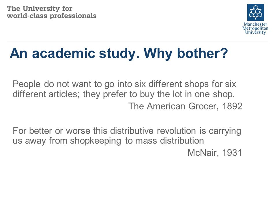 An academic study. Why bother.