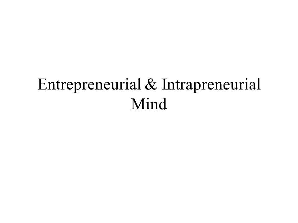 Entrepreneurial & Intrapreneurial Mind