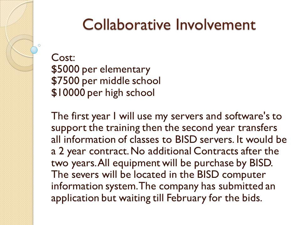 Collaborative Involvement Proposal: 1.