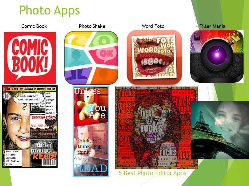 Photo Apps 5 Best Photo Editor Apps Comic Book Photo Shake Word Foto Filter Mania