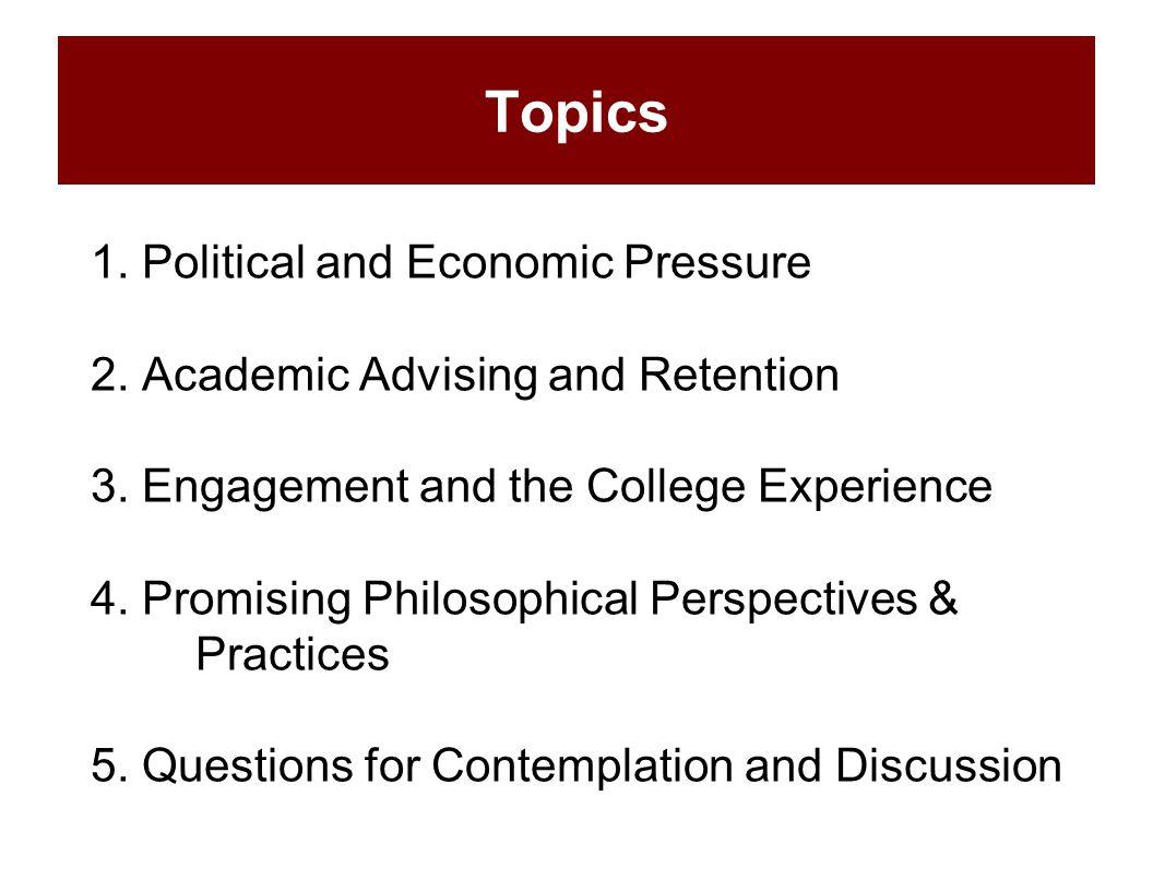 1. Political and Economic Pressure