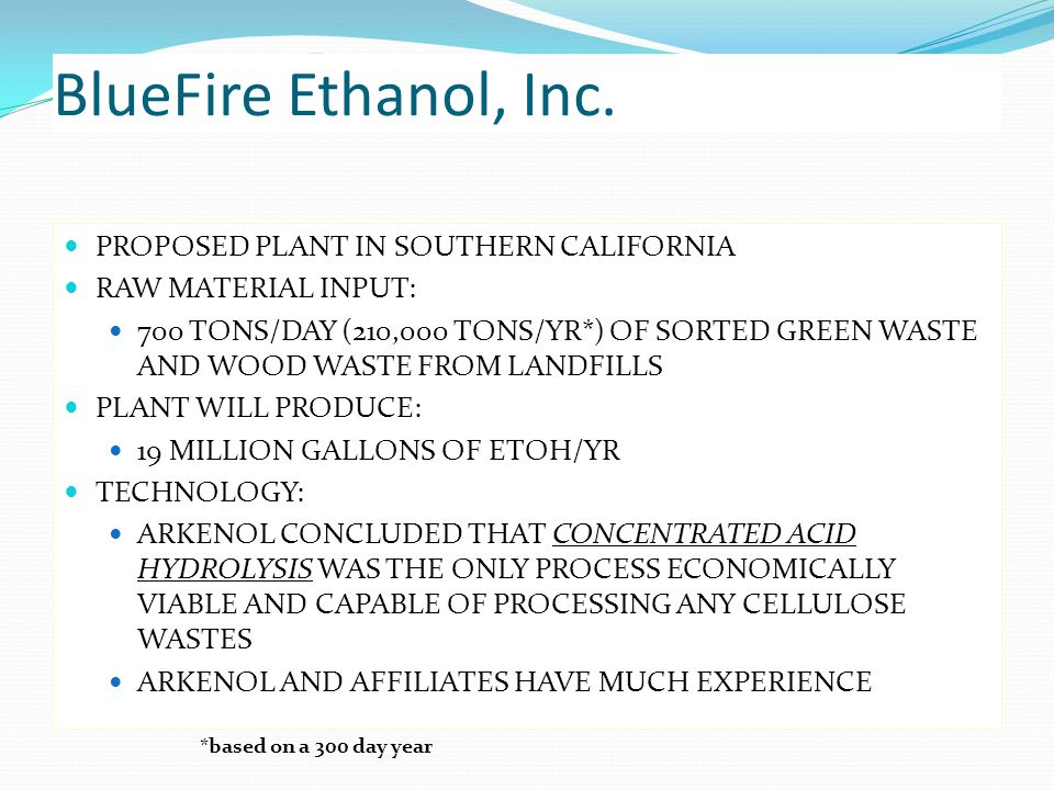 BlueFire Ethanol, Inc.