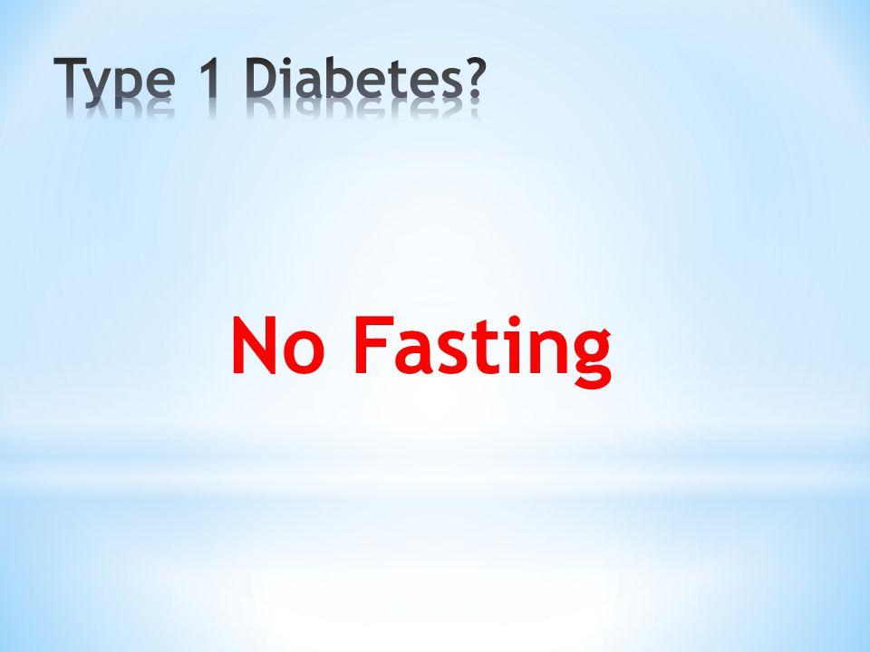 No Fasting