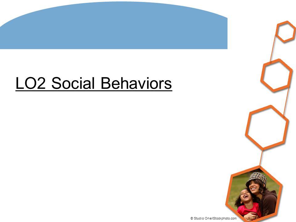LO2 Social Behaviors © Studio One/iStockphoto.com