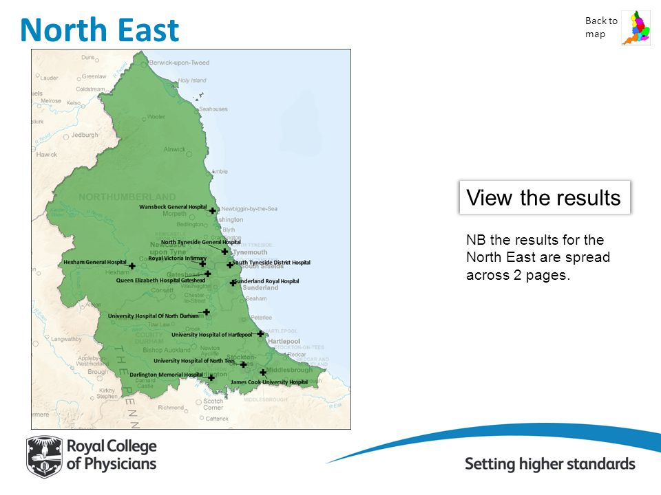 North East Back to map View the results NB the results for the North East are spread across 2 pages.