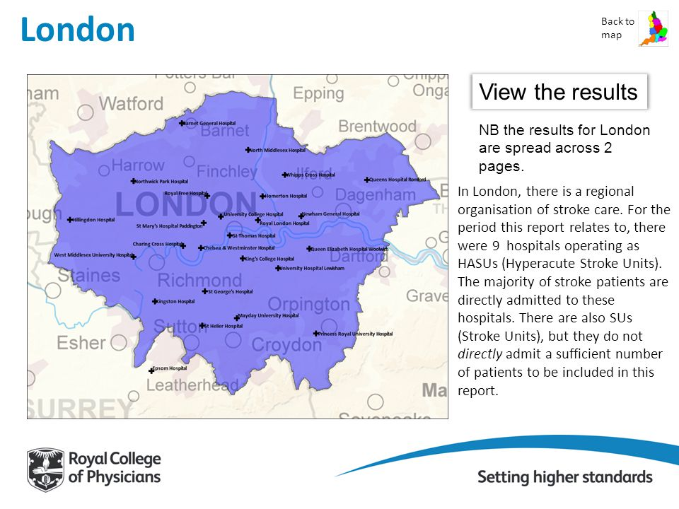 London Back to map View the results NB the results for London are spread across 2 pages.