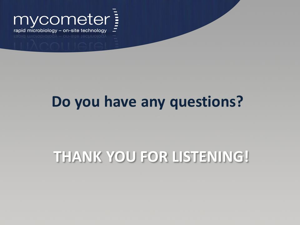 THANK YOU FOR LISTENING! Do you have any questions?