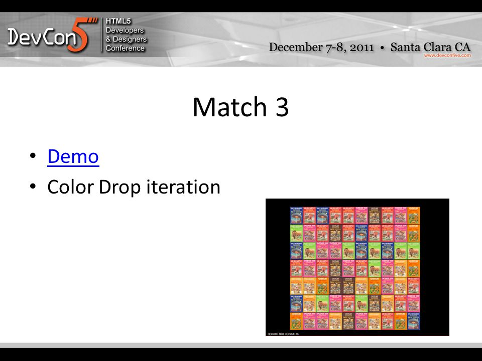 Match 3 Demo Color Drop iteration