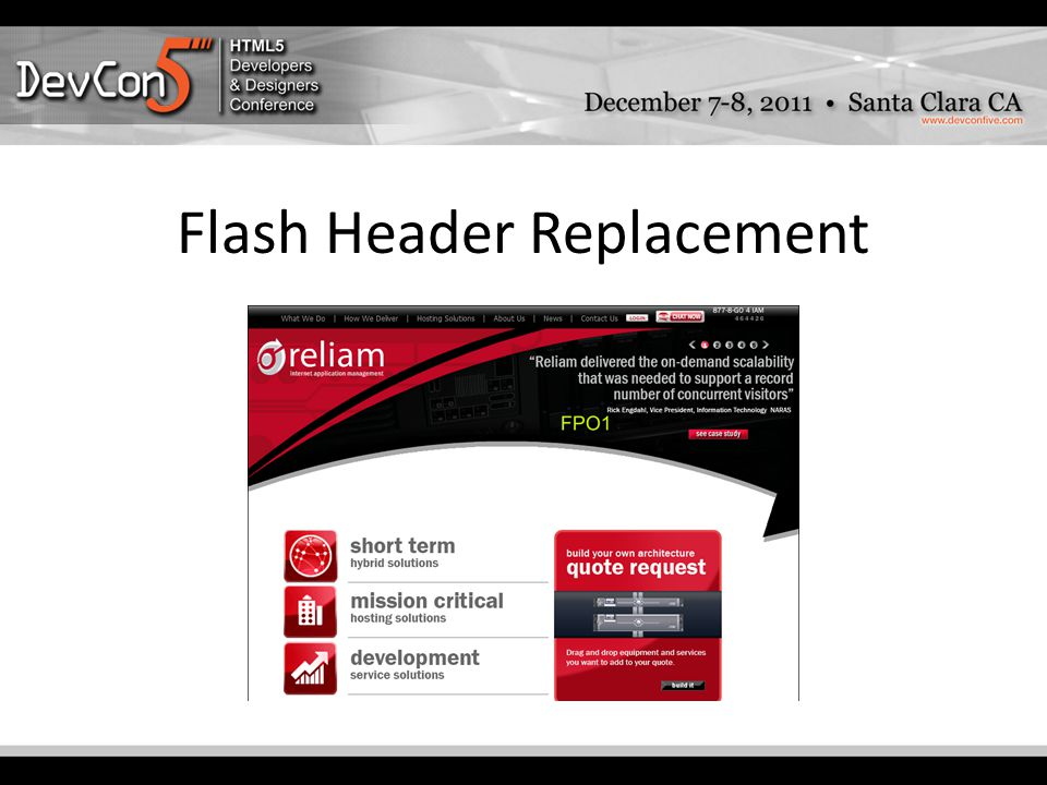 Flash Header Replacement