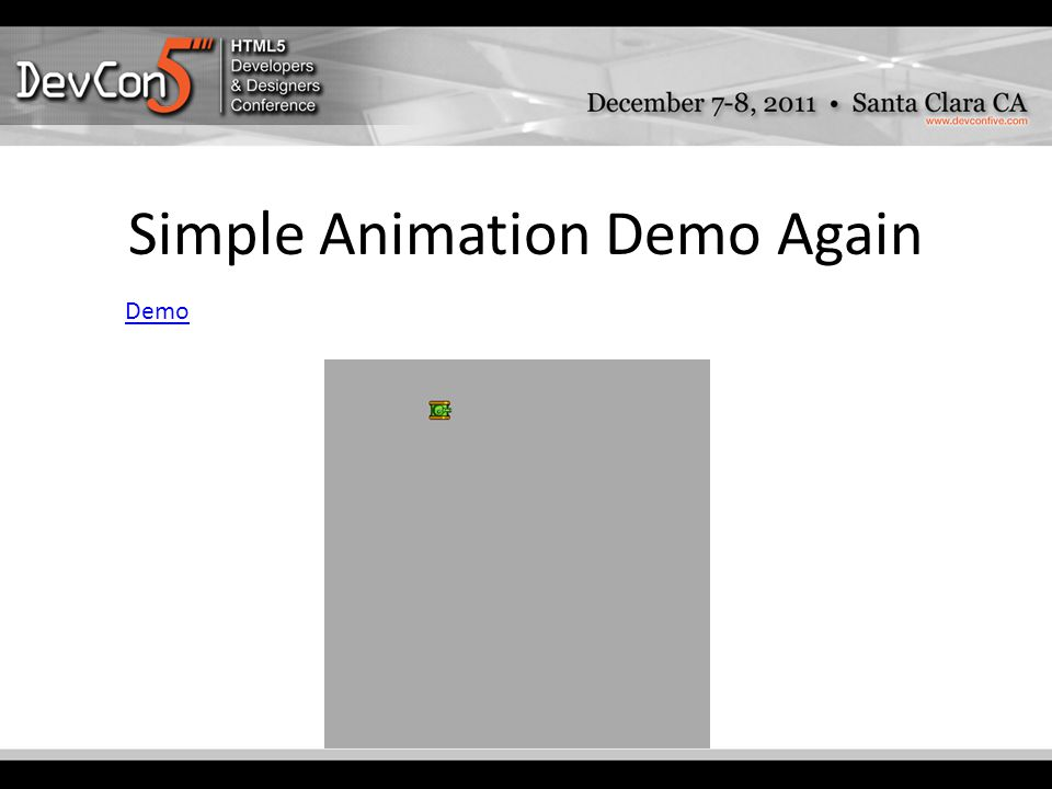 Simple Animation Demo Again Demo