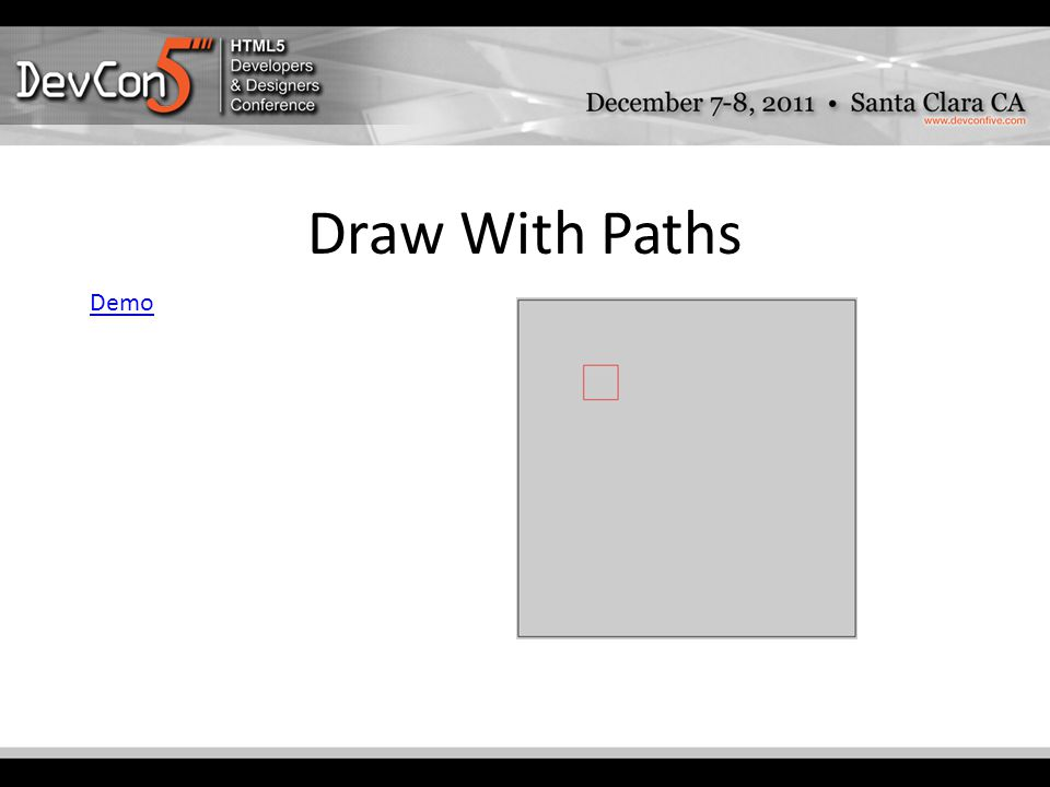 Draw With Paths Demo