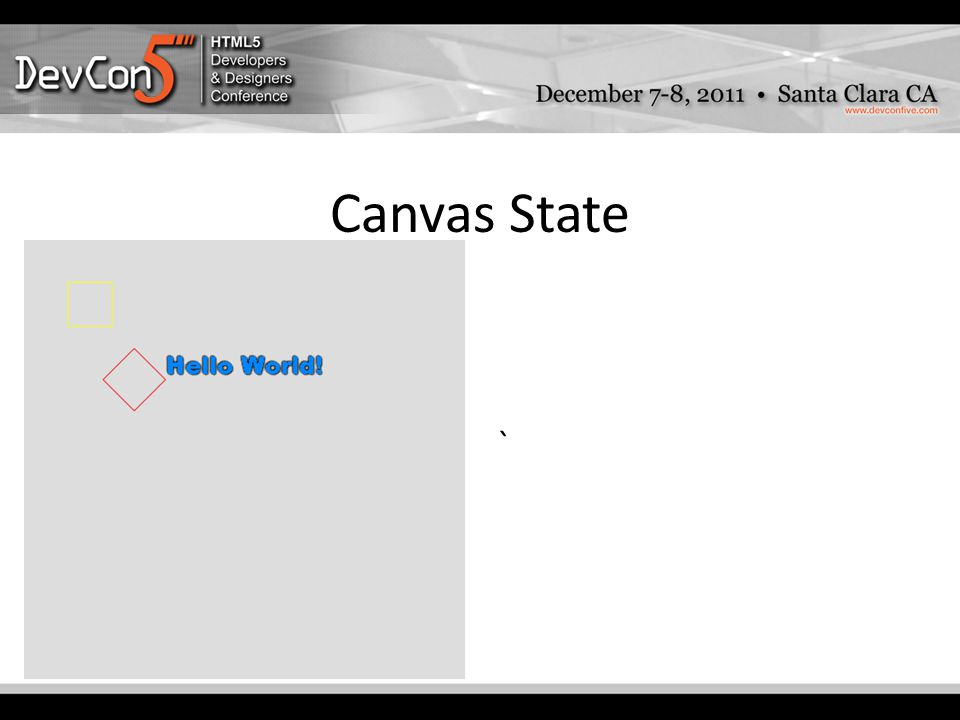 Canvas State `