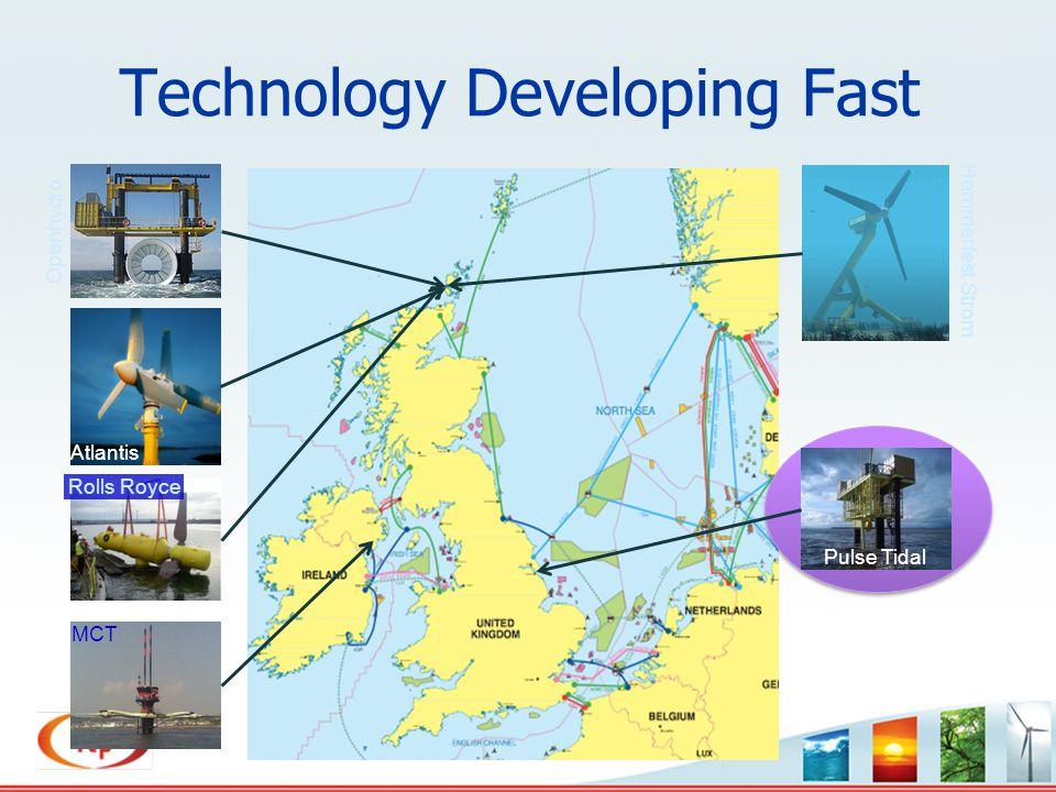 Technology Developing Fast Openhydro Atlantis Rolls Royce MCT Hammerfest Strom Pulse Tidal