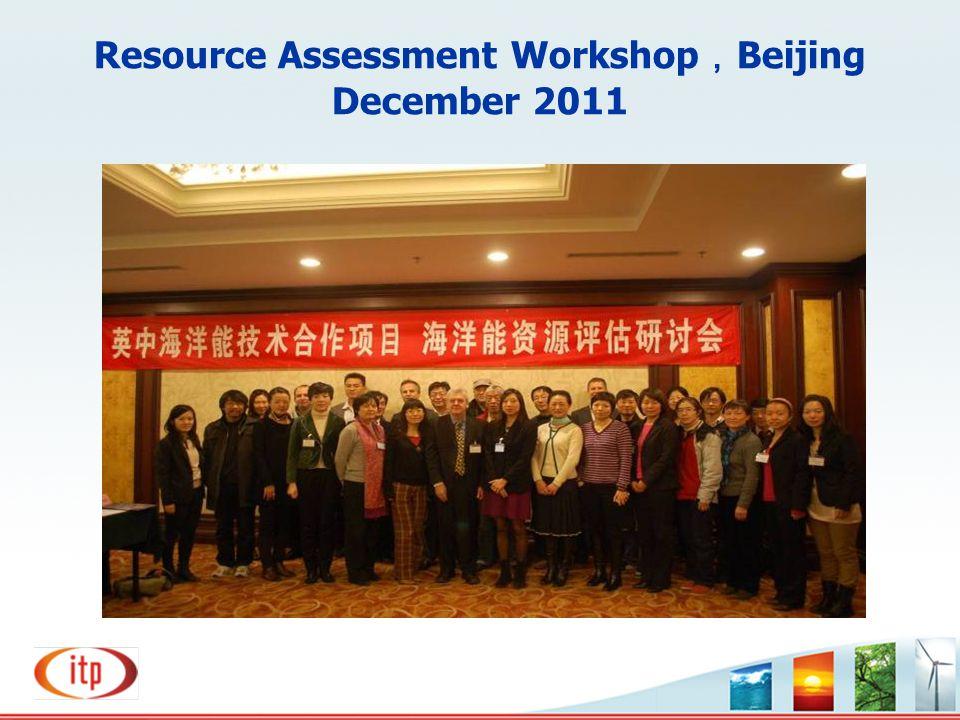 Resource Assessment Workshop , Beijing December 2011