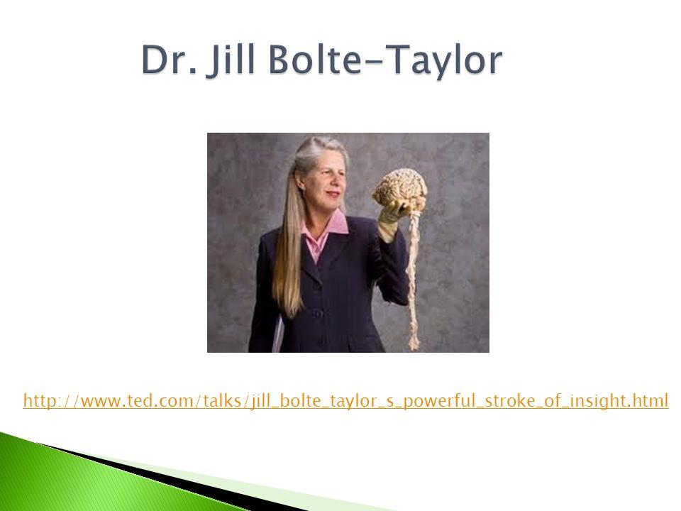 http://www.ted.com/talks/jill_bolte_taylor_s_powerful_stroke_of_insight.html