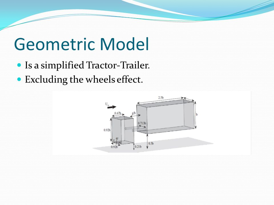Geometric Model Is a simplified Tractor-Trailer. Excluding the wheels effect.
