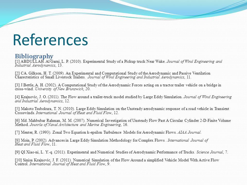 References Bibliography [1] ABDULLAH. Al Garni, L.