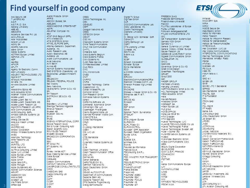 ETSI MEMBERSHIP © ETSI 2014. All rights reserved 2
