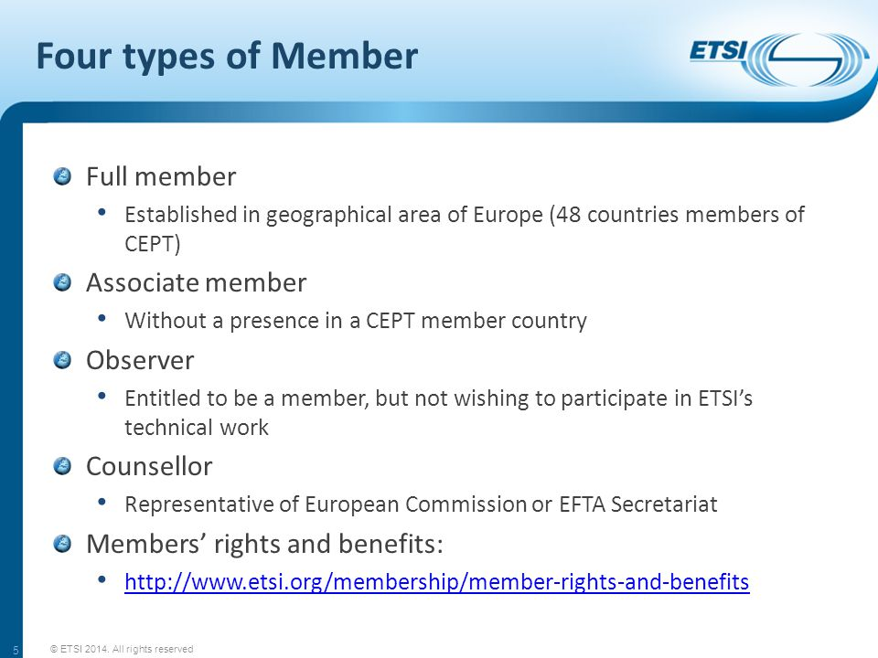 Where does the money come from.© ETSI 2014.