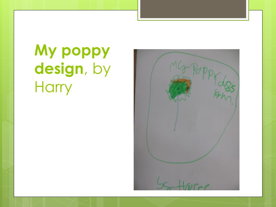 My poppy design, by Harry