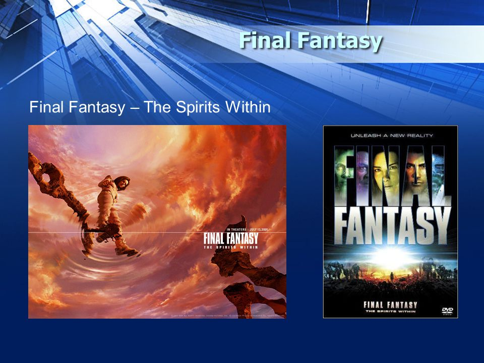 Final Fantasy Final Fantasy – The Spirits Within