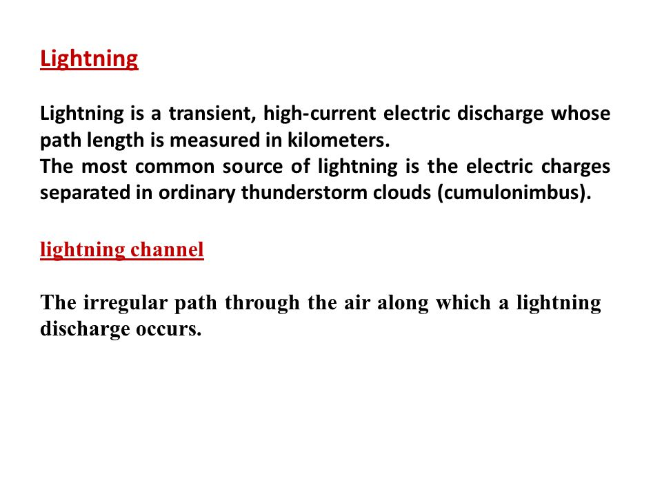 Peak current The maximum current measured in kilo Amperes (kA) of the lightning discharge is typically in the 20 to 30 kA range with a maximum of 310kA.