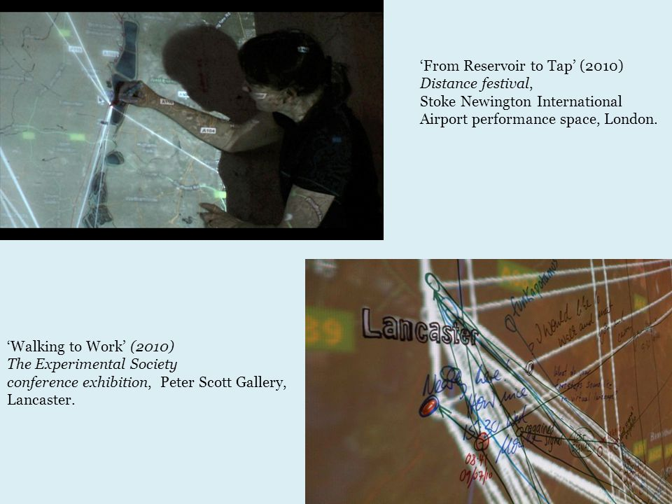 'Walking to Work' (2010) The Experimental Society conference exhibition, Peter Scott Gallery, Lancaster.