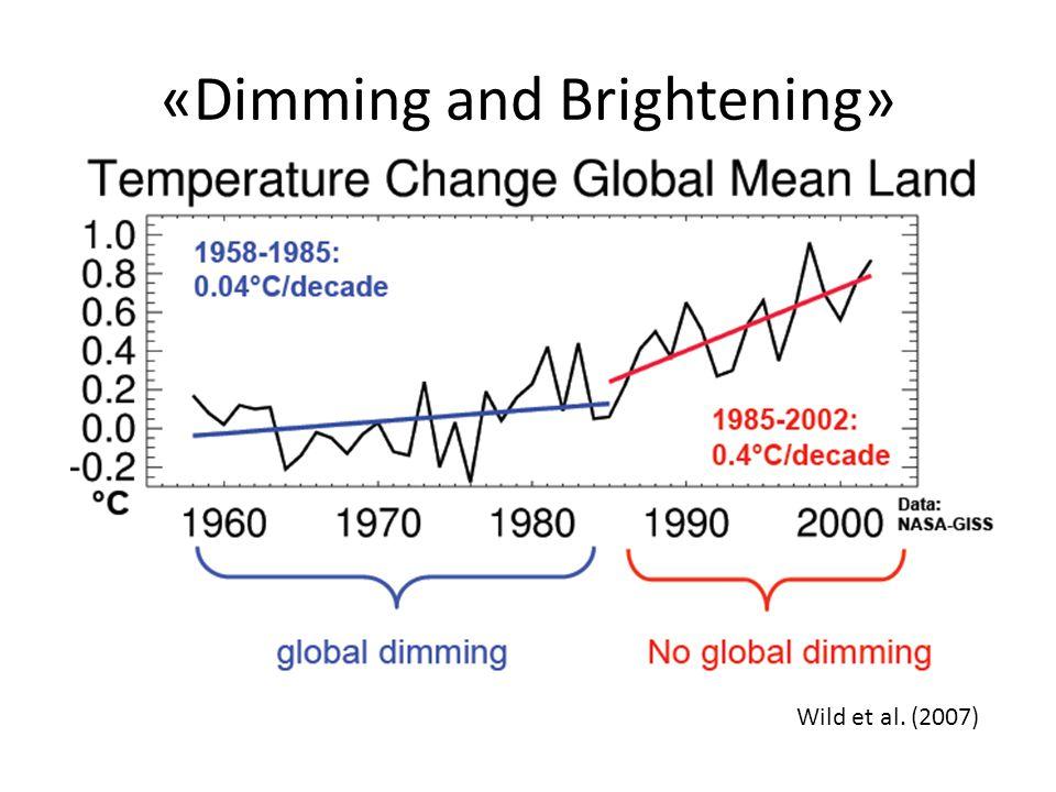 «Dimming and Brightening» Wild et al. (2007)