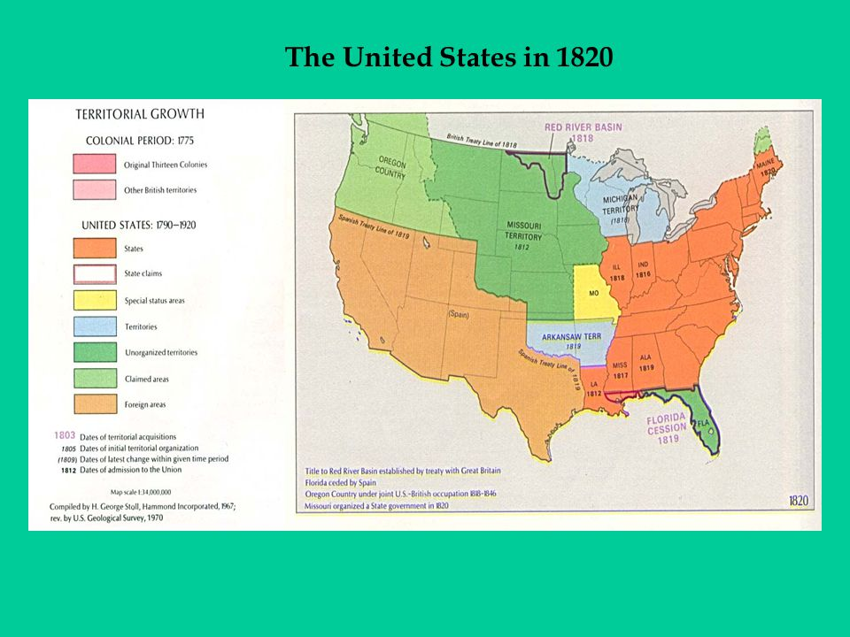 The United States in 1820