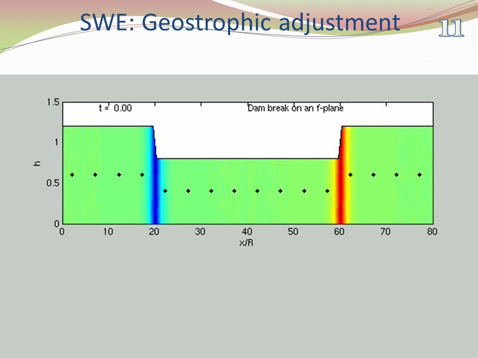 SWE: Geostrophic adjustment