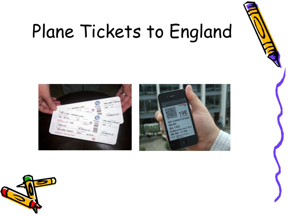 Plane Tickets to England