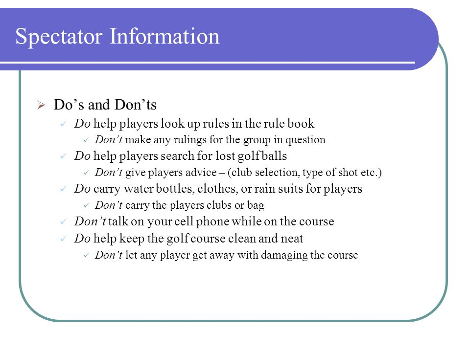 Spectator Information  Golf carts are not provided to parents, spectators or volunteers.  If you are interested in renting a spectator cart, please