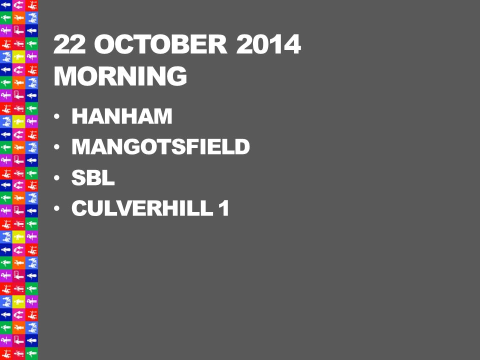 22 OCTOBER 2014 AFTERNOON CHIPPING SODBURY GRANGE WINTERBOURNE CULVERHILL 2