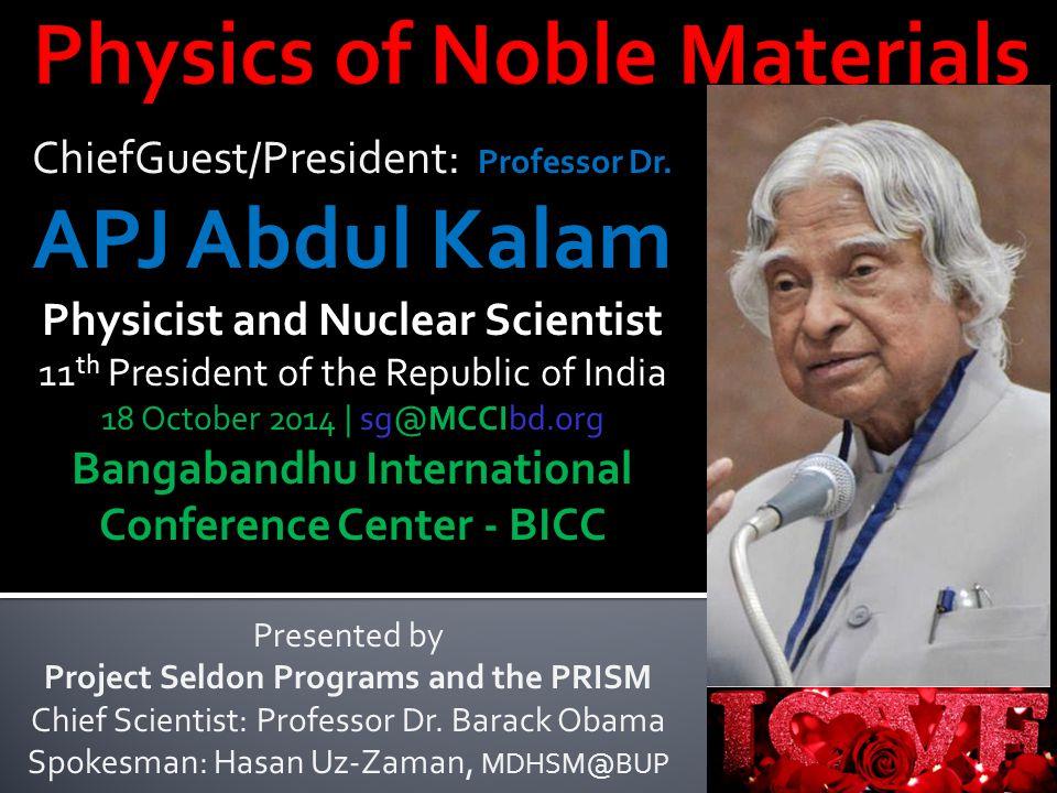 ChiefGuest/President: Professor Dr.