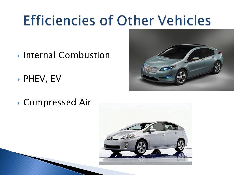  Internal Combustion  PHEV, EV  Compressed Air