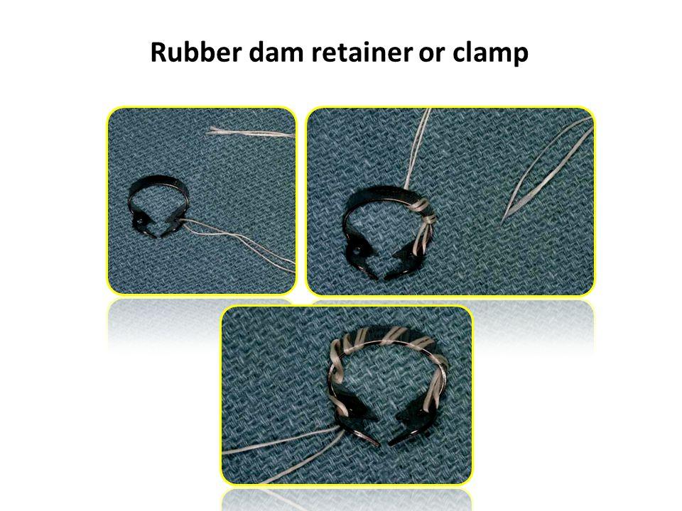 Rubber dam retainer or clamp