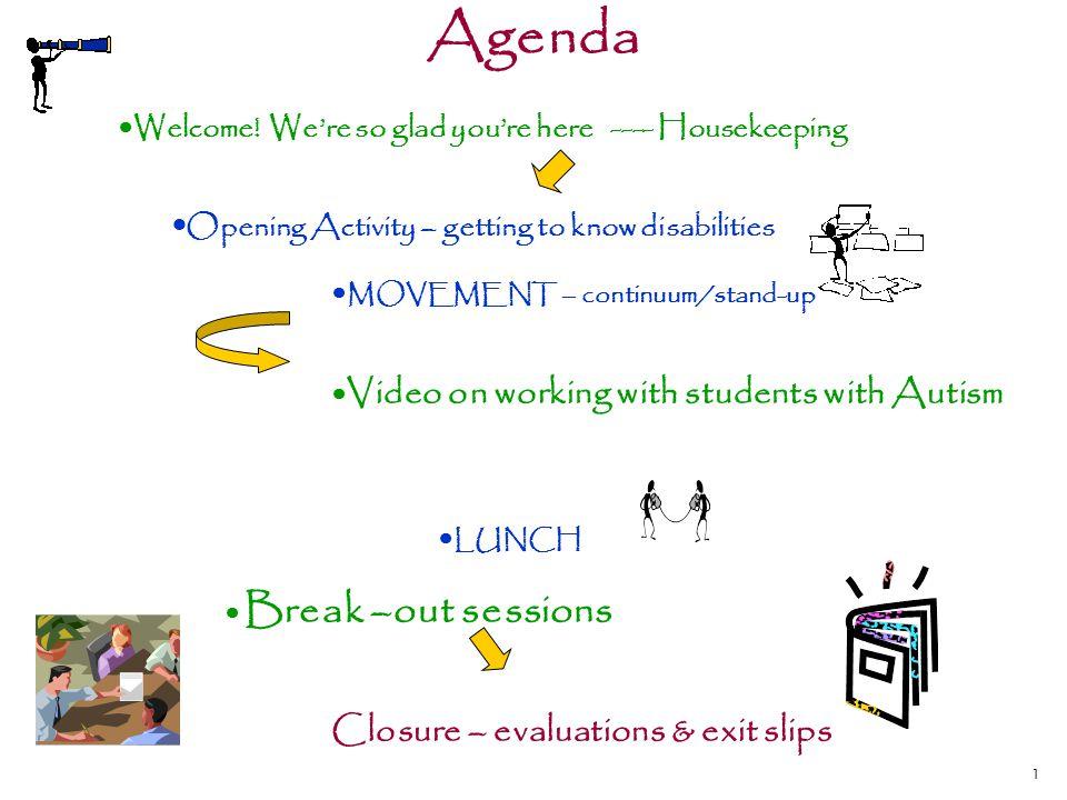 1 Agenda Welcome.