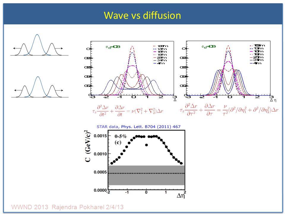 Wave vs diffusion WWND 2013 Rajendra Pokharel 2/4/13